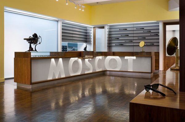 Famed eyewear brand Moscot employed Jaklitsch for this shop in New York. Photograph by Paul Warchol.