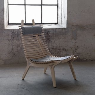 Gulin was particularly clever with the headrest, as It simply affixes between any of the two slats. We found the chair to be most comfortable when the headrest was used lower on the frame for lumbar support. IBBI is made of birch and comes in nine different stains as well as white oil, clear oil or clear varnish. A Stolab catalogue can be ordered through their website.