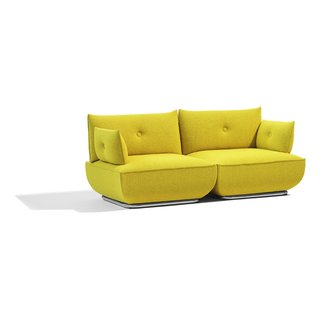 The two-seat configuration of the Dunder sofa. Blå Station is represented in the US by ICF Source.