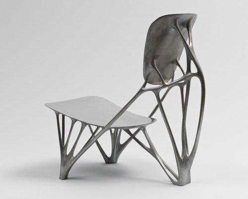 Bone Chair. 2006, by Joris Laarman. Aluminum. Manufactured by Joris Laarman Studio, The Netherlands. The Museum of Modern Art.  Photo 3 of 4 in Events this Weekend: 2.18-21