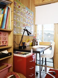Though she's yet to properly design a building, Velma's small office has her set up to do big things.
