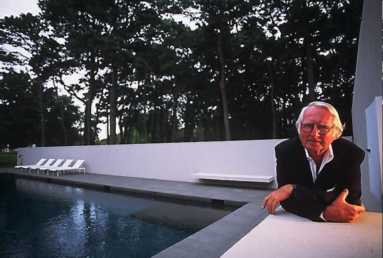 Richard Meier, another Pritzker prize winner, at his home in East Hampton.  Richard Schulman's Photographs by Bradford Shellhammer from Richard Schulman