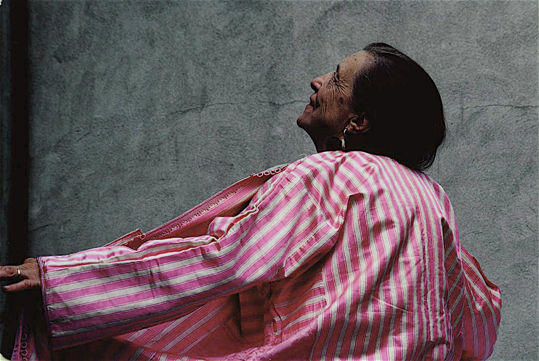 Louise Bourgeois: Wow. Certainly outlived them all! The Grand Dame of the Art World. She really wanted me to shoot her in this Caftan, one of her personal favorites. She was a tough love, smart and intuitive.  Richard Schulman's Photographs by Bradford Shellhammer from Richard Schulman