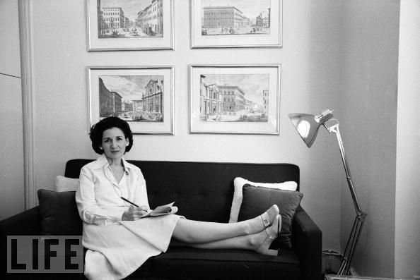 This photo of a young Ada Louise Huxtable is from the Life Magazine Archive.  Photo 1 of 1 in Critics Love Critics