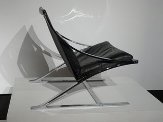Reform Gallery dedicated much of their show space to Paul Tuttle, who studied architecture at Frank Lloyd Wright's Taliesen West and was best known for his 1960s Santa Barbara home designs. He created the Z Chair in 1965. From Reform Gallery.