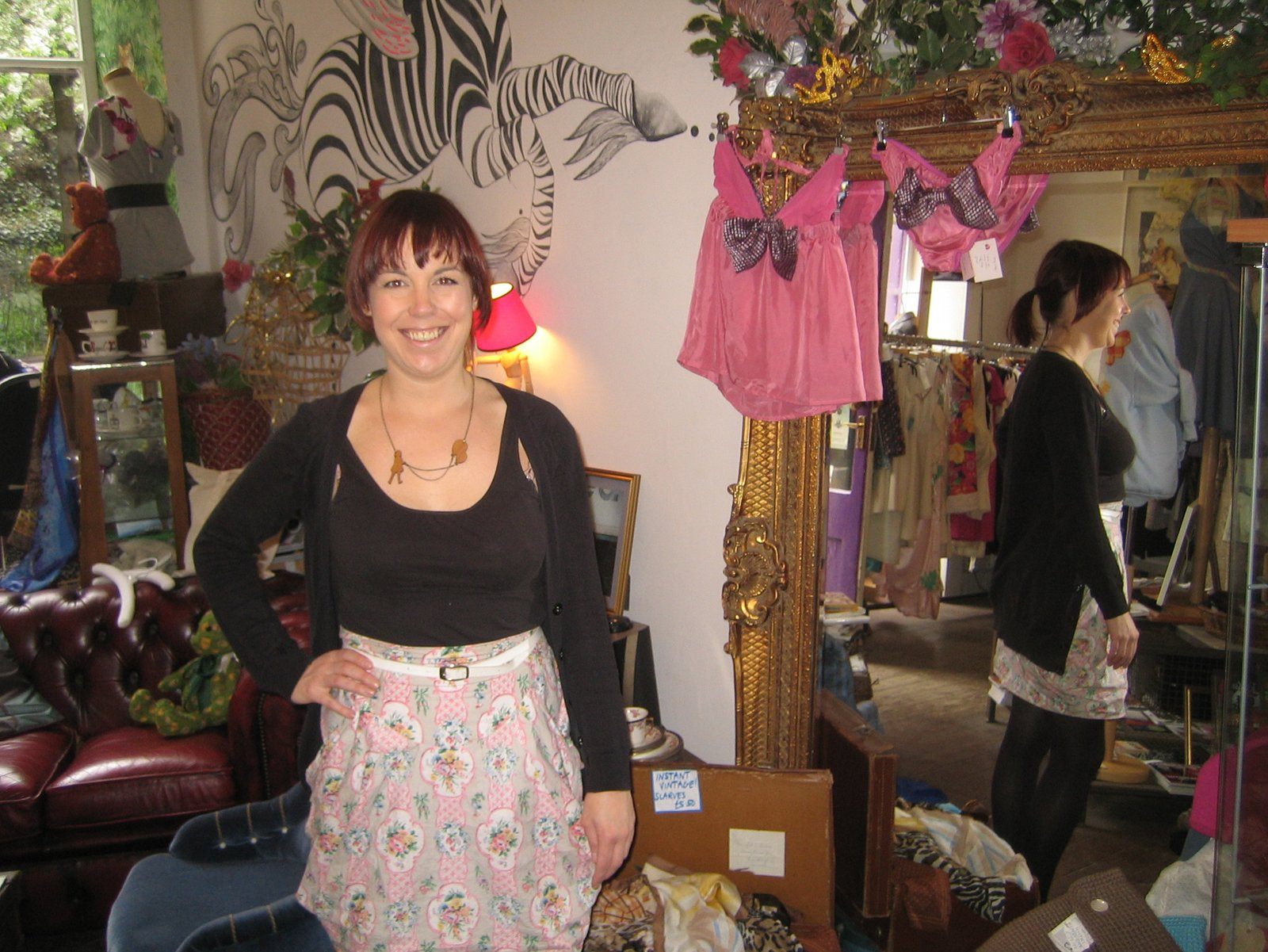 It was a rather cheery morning indeed as I popped in on Fleur Mackintosh and her vintage clothing and custom tailoring boutique, Godiva.  Photo 1 of 11 in Scotland: Day 2