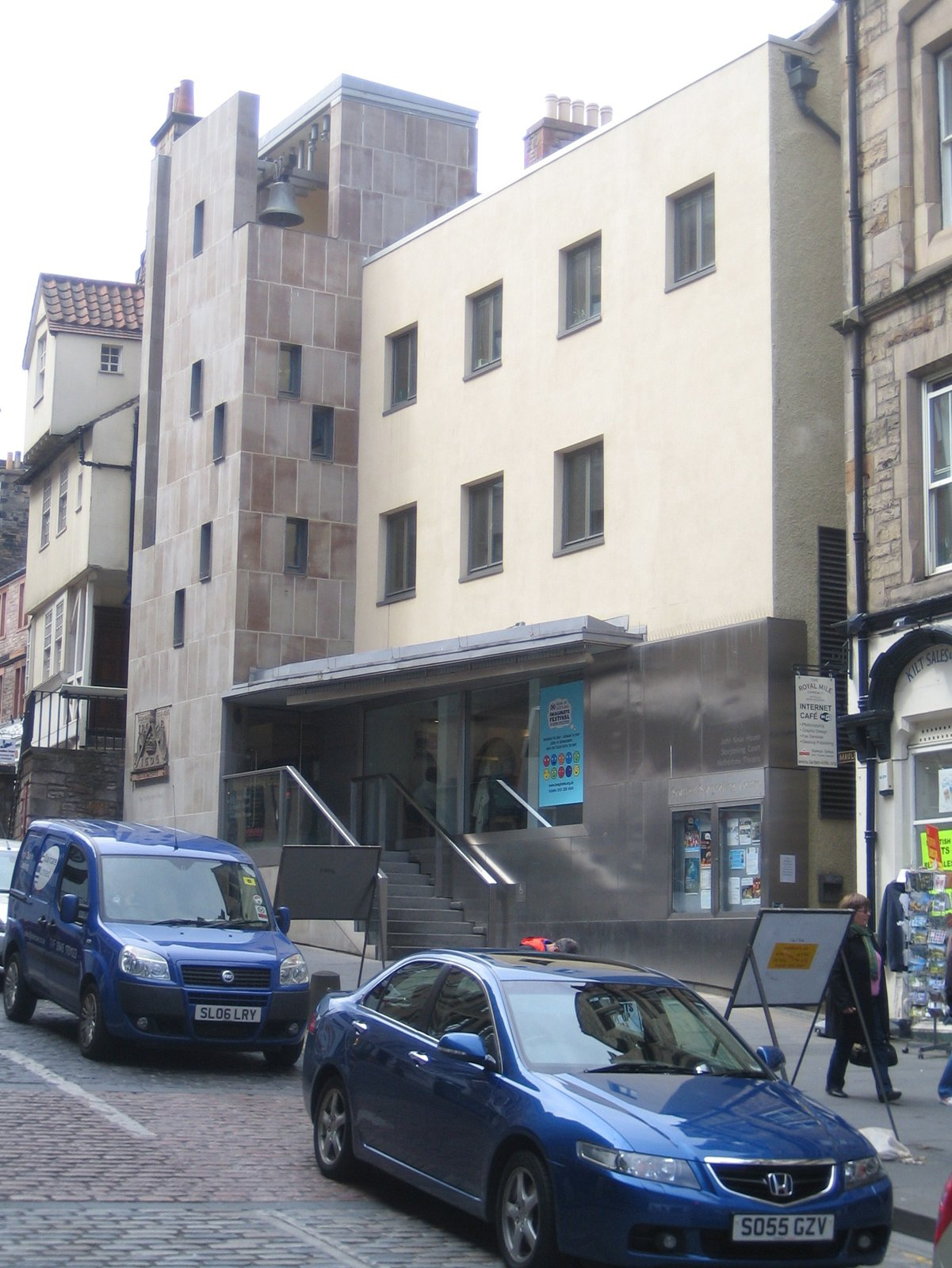 I passed by the Scottish Storytelling Project building by Malcolm Fraser on High Street today.  Photo 7 of 11 in Scotland: Day 2