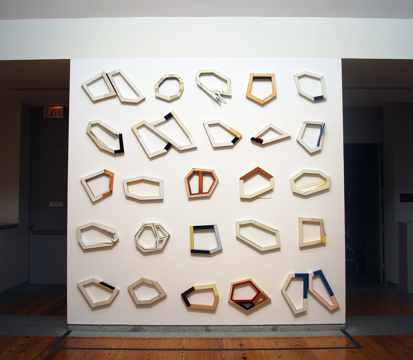 Segments [installation of 25 pieces], oil and enamel on pine, by Frederick Lynch  Photo 7 of 7 in Division and Discovery