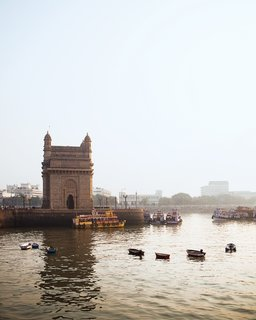 The iconic Gateway of India was built in 1911 to welcome England's King George V.