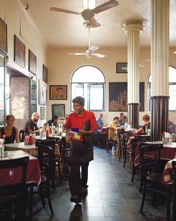 The Leopold Cafe is a popular local haunt.