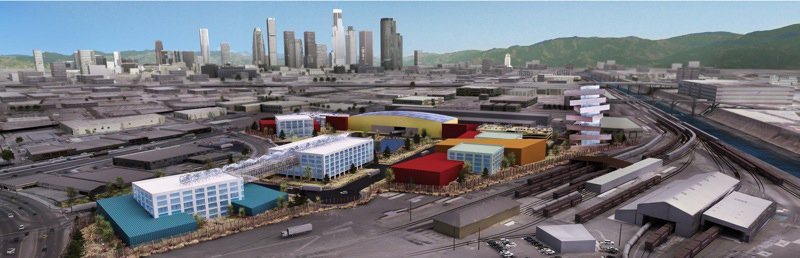 One concept for L.A'.s Cleantech Manufacturing Center, a campus for a large green corporation.  Photo 4 of 4 in Preview: Cleantech Corridor Competition