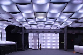 Club NOX in Recife, where two rivers meet the Atlantic in Brazil. Dominated by planes of changing, pulsating light both outside and in, the club was designed by Juliano Dubeux, João Domingos Azevedo and Lívia da Costa Brandão of Metro Arquitectos and José Rafael Souto Maior de Brito.