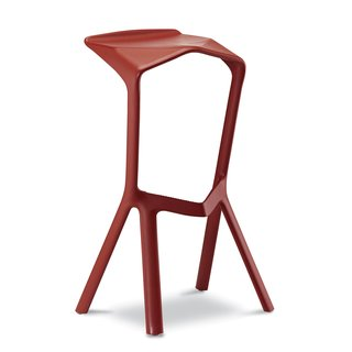 "Another seating win: the Miura barstool for Plank in 2005. Reinforced polypropylene / 18.5"" W x 15.75"" D x 32"" H with 30.5"" seat height."