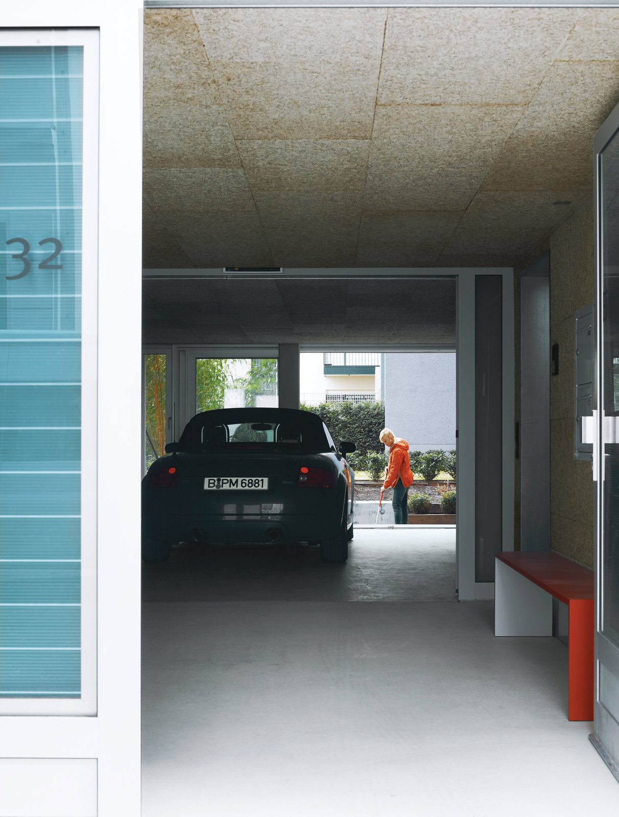 Garage and Attached Garage Room Type Just outside the lobby is a drive-through for Spiekermann's Audi.  Photo 5 of 16 in A Rational Approach