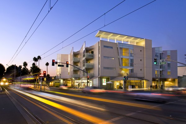 The U.S. Green Building Council, which created the LEED program, was given the Corporate and Institutional Achievement Award. Shown here is the Gish Apartments in San Jose, California, a LEED Gold-certified project designed by OJK Architecture and Planning. Photo by Andre Bernard Photography.