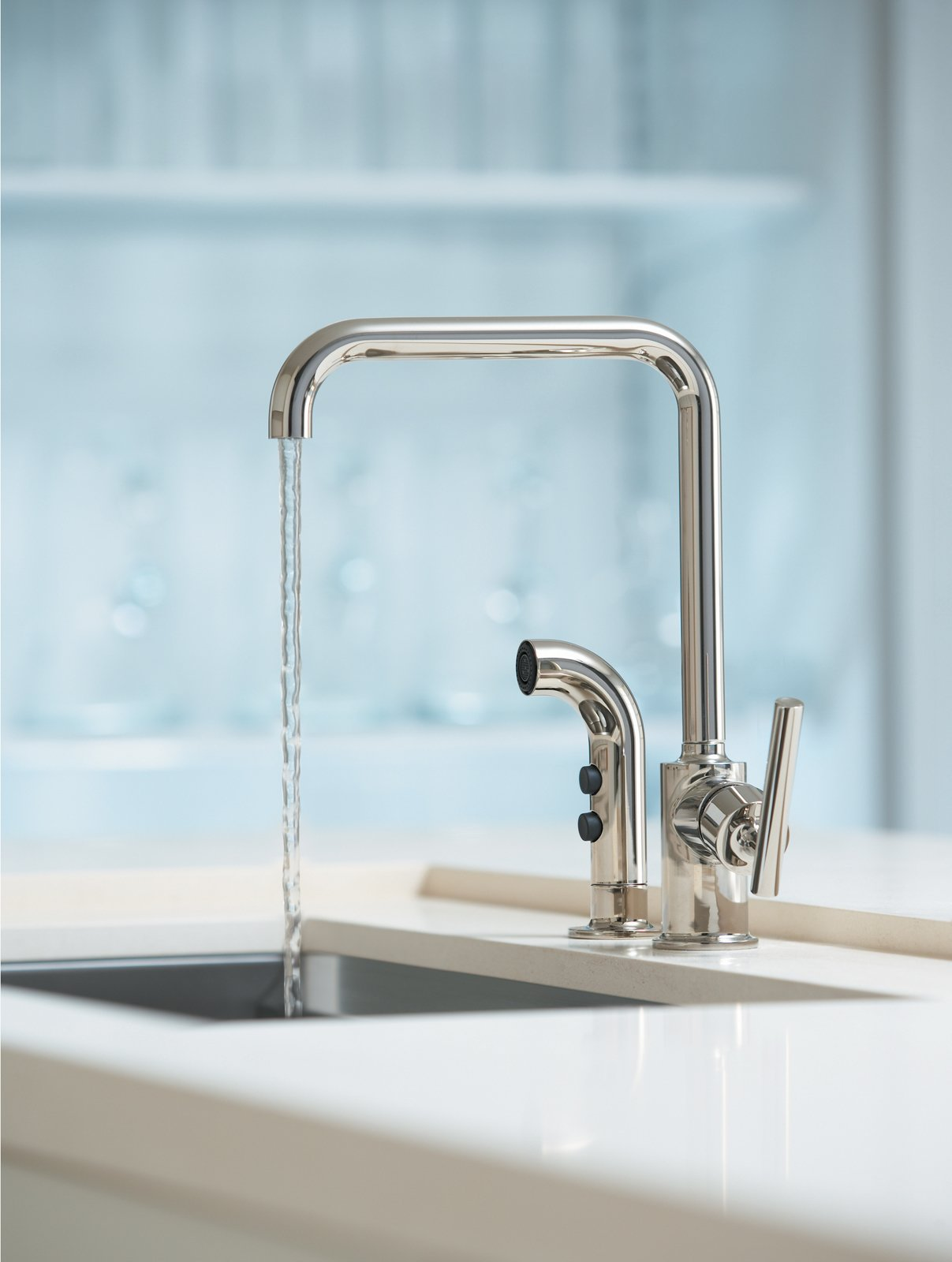 The Purist kitchen faucet by Kohler  Photo 9 of 11 in How Much Should You Spend on a Kitchen Faucet? from Preview: Shane Judd of Kohler