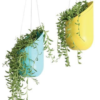 Wallter's powder-coated spun-aluminum planters are available at a discount on the show floor of Dwell on Design.