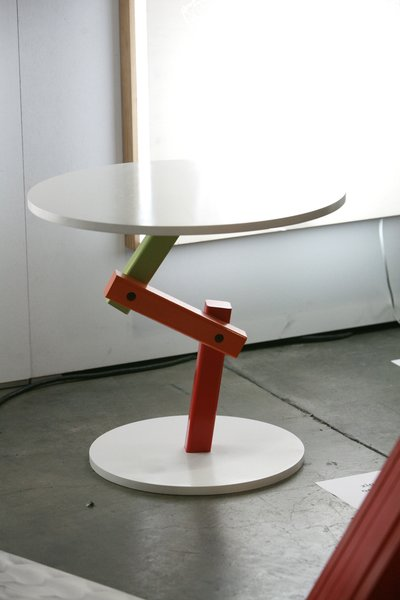 My favorite entry in the Korean booth is from Sooho Haam, the articulated Occasional Table from the Zig Collection.