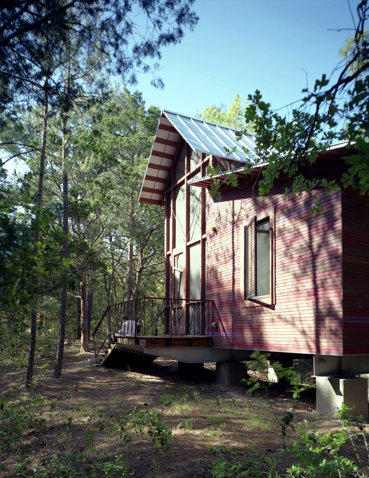 The bunkhouse and path beyond.  Texas Bunkhouse by Erika Heet