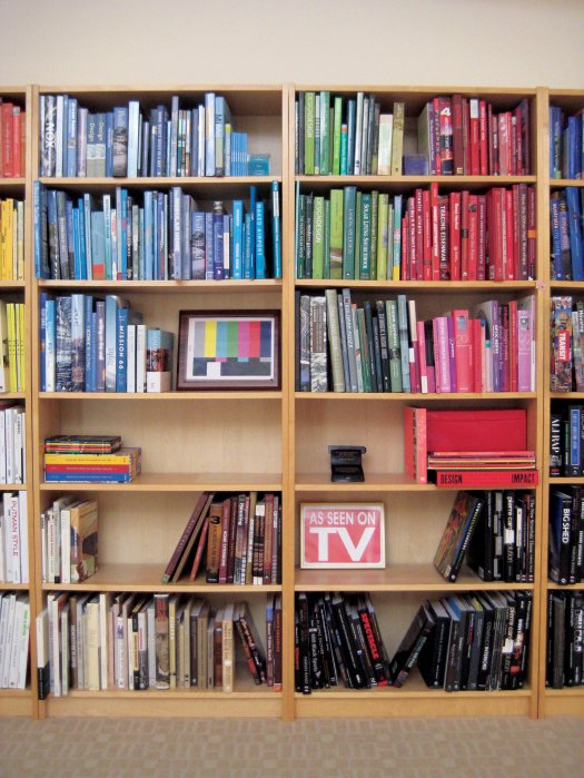 The Dwell bookshelves from the March 08 issue.  Photo 3 of 3 in Shelved By Color