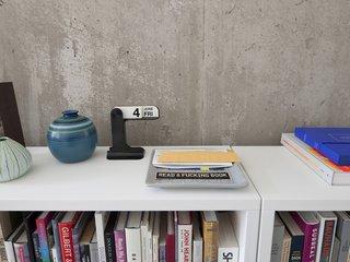 Design tomes, a salient message, mid-century ceramic.