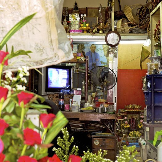 """""""Florist's,"""" Bangkok, Thailand. (2010)  Search """"milan 2010 in color"""" from Bangkok's Storied Shophouses"""