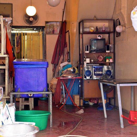 """Cleaning Up,"" Bangkok, Thailand. (2010)  Bangkok's Storied Shophouses by Diana Budds"