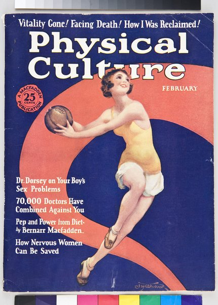 Clearly vigor wasn't limited just to the machine as this New York periodical Physical Culture from 1927 shows.