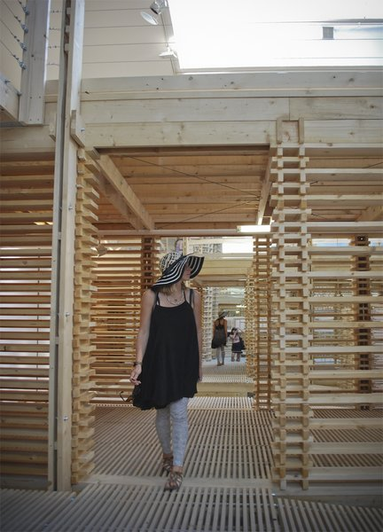 If you're looking for more, this video> captures the experience of discovering and meandering through the pavilion pretty well.