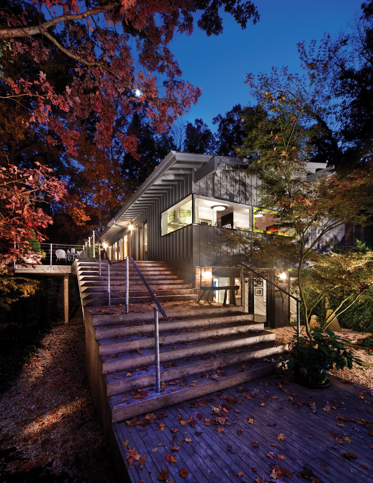 The Wheeler house, designed by Cherry Huffman Architects is a positive demonstration of an ongoing client-architect relationship and rests downhill from the street on a secluded, wooded site.  Photo 25 of 30 in Triangle House Tours
