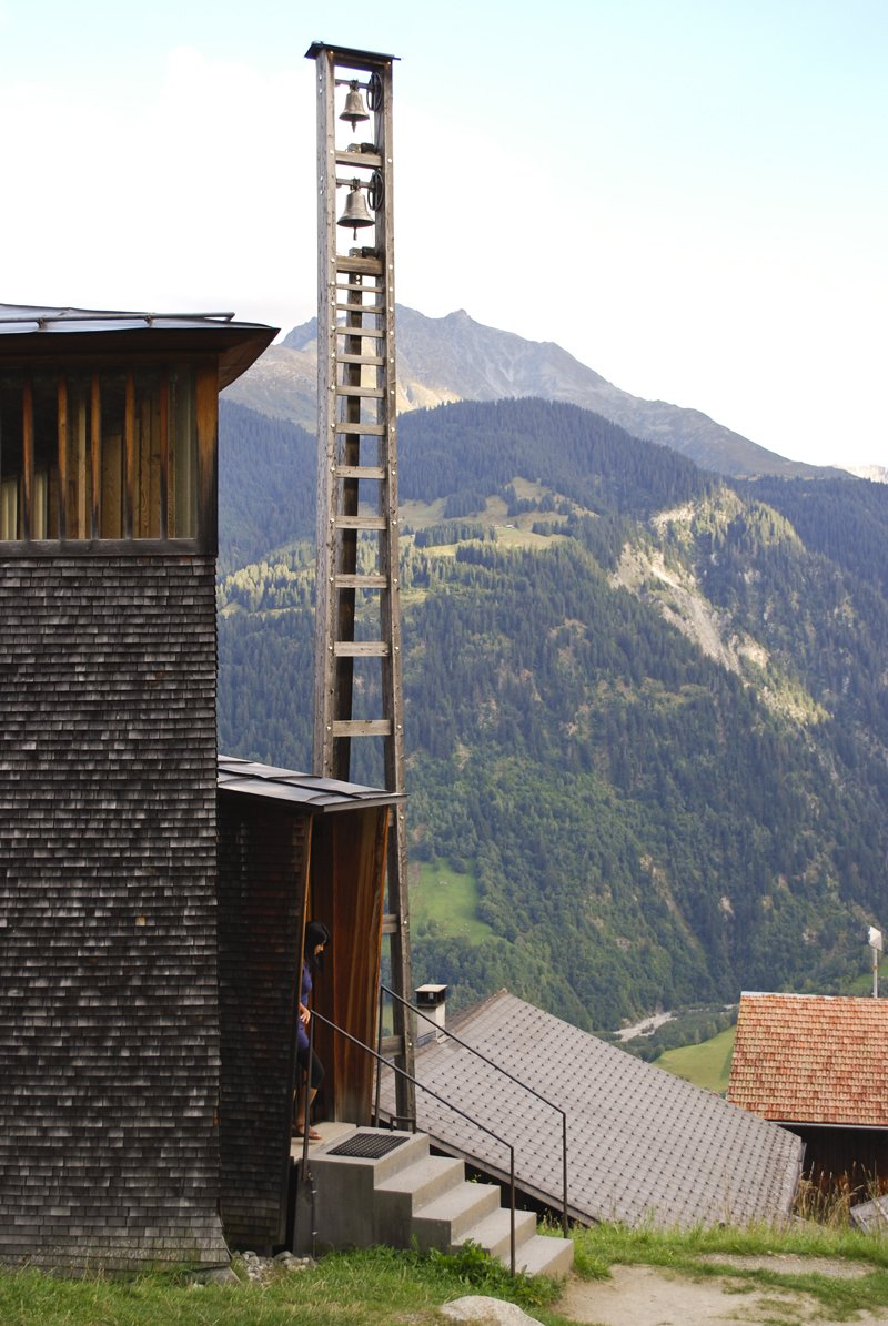 For an experiential visit (from the comfort of your chair), you can also watch this video of the journey up to and inside the chapel.  A Pilgrimage to Zumthor's Chapel by Tiffany Chu