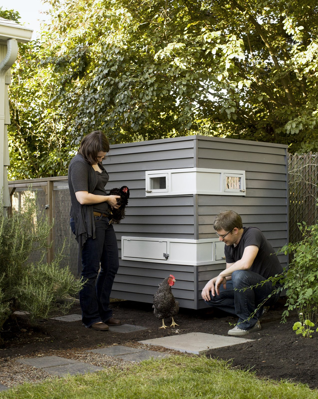 Snyder and Martin's move brought about an entirely different lifestyle--one that involved a house, a yard, and for Snyder, the chance to launch his own firm, Mitchell Snyder Architecture, after first acquainting himself to Portland, Oregon, as a designer at Scott Edwards Architecture. His first project on his own: a chicken coop for the couple's new feathery friends.  Photo 1 of 4 in The Dos and Don'ts of Building Your Own Chicken Coop from Coop Dreams