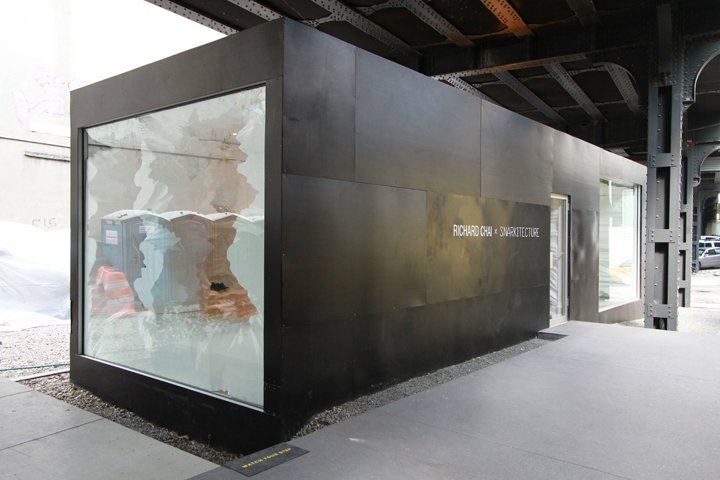 Exterior, Shipping Container Building Type, Metal Roof Material, Metal Siding Material, Glass Siding Material, and Flat RoofLine Image courtesy of David Smith.  Photo 9 of 16 in 5 Best Retailers in Upcycled Shipping Containers from Shipping Container Retail Design
