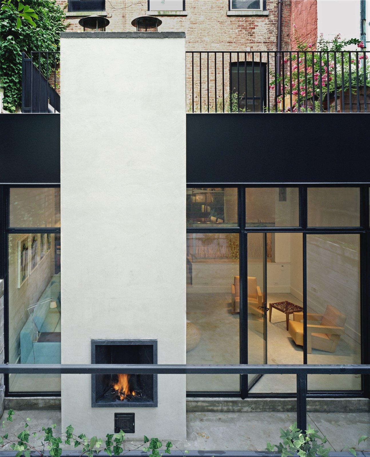 Exterior  97+ Modern Fireplace Ideas from Soho Row House Renovation