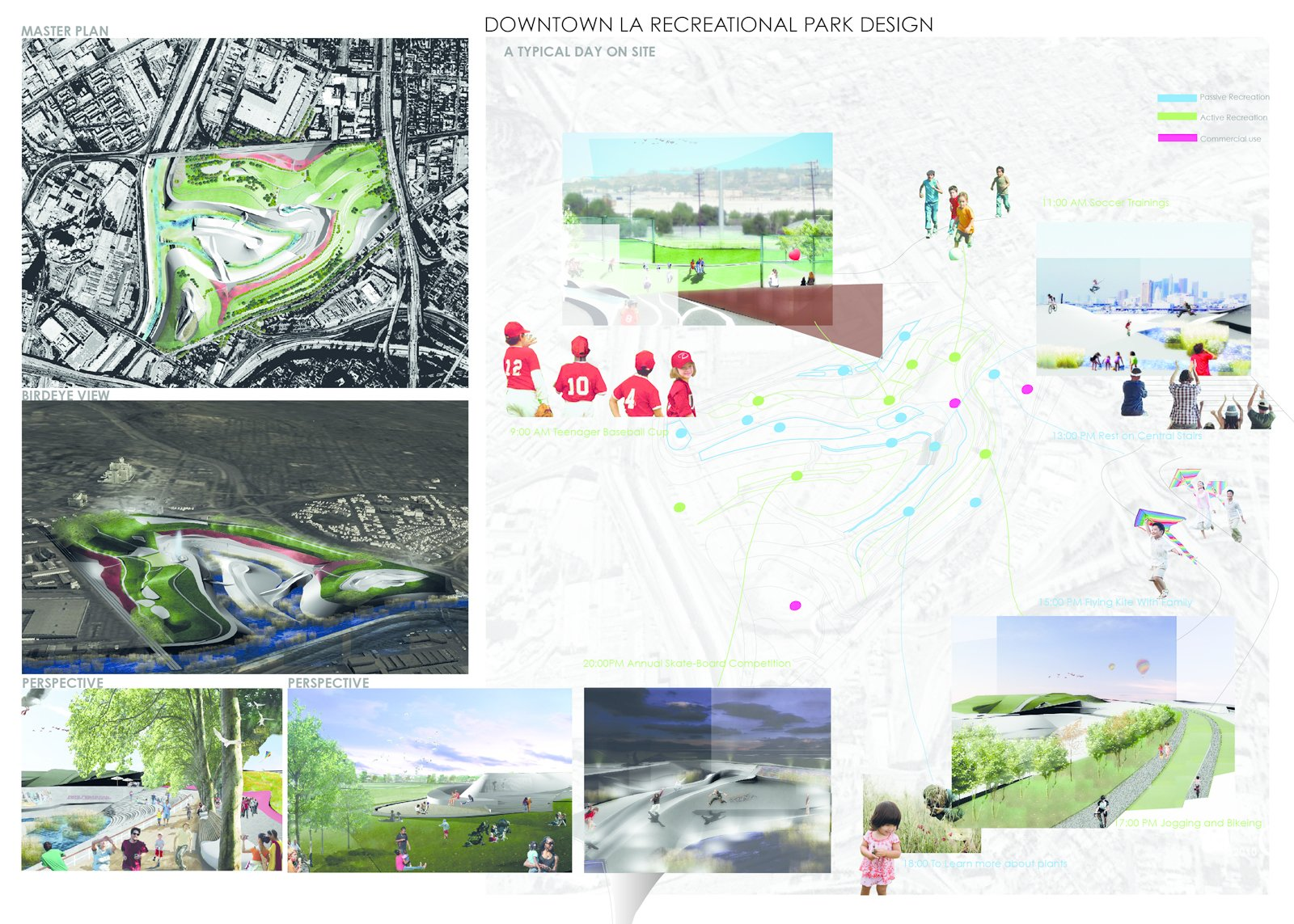 """Graffiti LA, a design for a downtown park in Los Angeles, by University of Southern California landscape architecture student Can Liu.  Search """"charles birnbaum future landscape architecture"""" from The Youngest Guns Contest"""