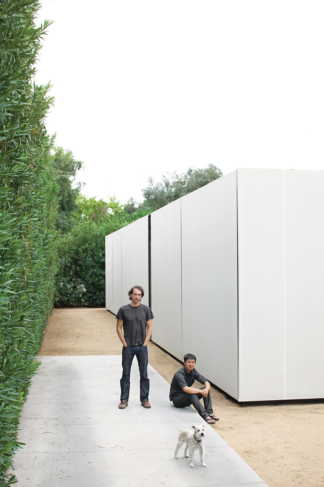 Exterior, Flat RoofLine, and House Building Type For the duo of young architects behind the firm Atherton Keener, the harsh, ever-changing light of Phoenix, Arizona, desert served as inspiration for their minimal and malleable home.  Photo 1 of 24 in Startin' Spartan