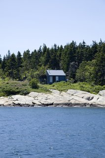 """One of the early challenges of building the house was defining the property lines of the lot, which had come to be known as """"the floating acre"""" among the local fishermen."""