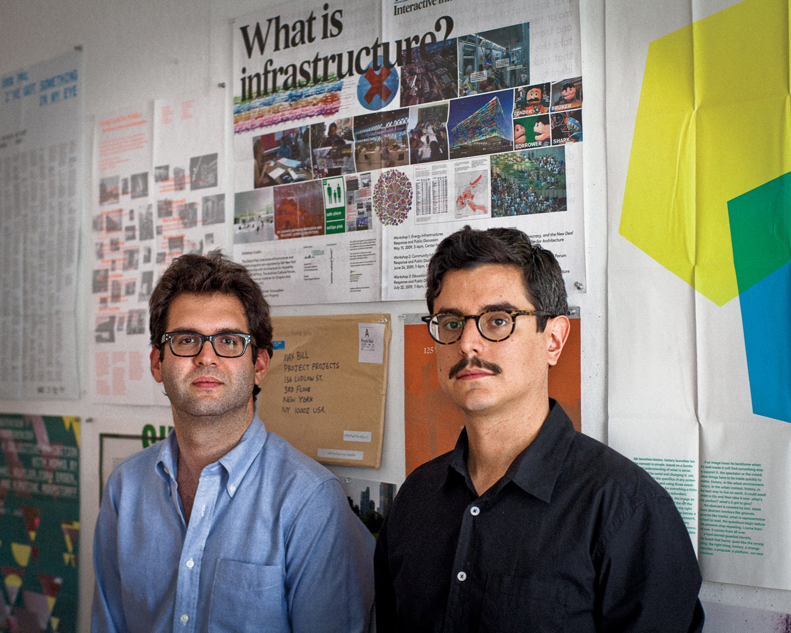Project Projects is helmed by Rob Giampietro (on left), Adam Michaels (on right), and Prem Krishnamurthy (not pictured).  Graphic Designers We Love by Aaron Britt