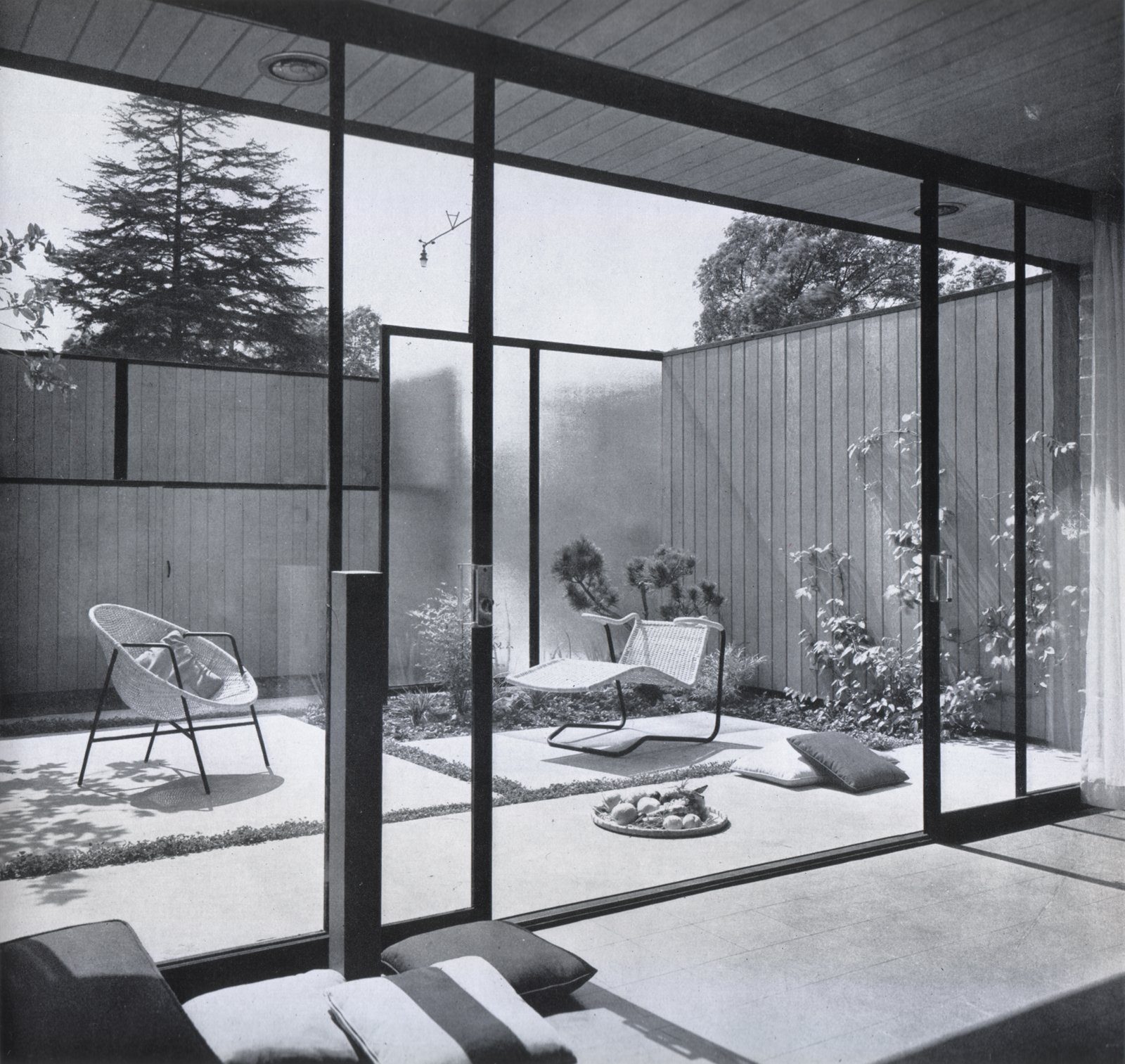 View of court from living room, 1953.  Photo 2 of 9 in Hollywood Renovation: Week 1