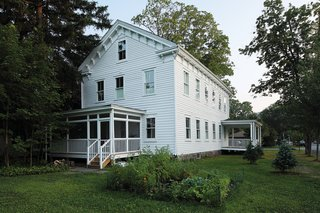 With its porches and rows of windows, the still-legible schoolhouse   is unwaveringly 19th century.