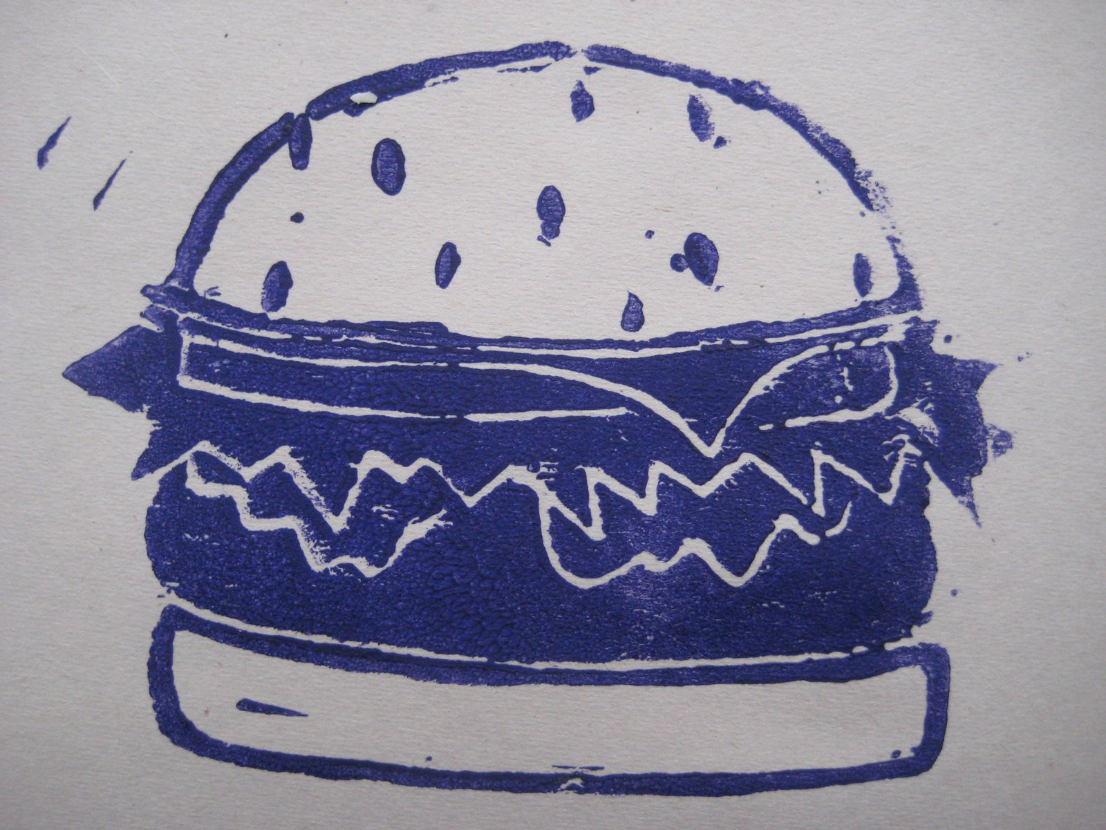 This big burger came very close to being be-Santa-hatted on these cards instead of the ice cream cone.  Introducing Home Work by Jordan Kushins