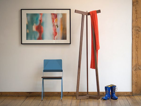 Stretch from Misewell Modern FurnitureIf a coat rack was a luxury item (and who's to say it's not?) we would go for this hand-crafted version from Misewell that is made from silky-smooth walnut with pinwheel joinery for $1,180. However, Misewell now offers Spruce, at the slightly more reasonable price of $410.