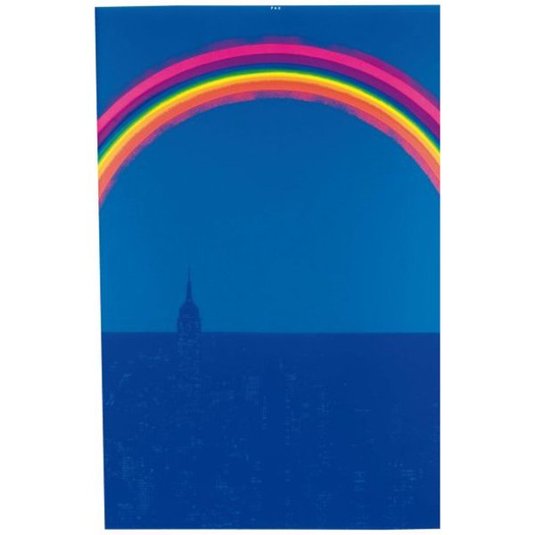 """Pax, Arc en ciel New York"" (1969). Signed and dated serigraph by German multimedia artist Otto Piene. More information"