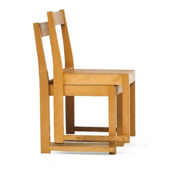 Pair of birch chairs, 1932, by Sven Markelius (1889-1972). More information