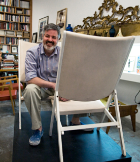 Here's Sam Kaufman in his eponymous LA gallery. Photo by Shannon Donnelly.