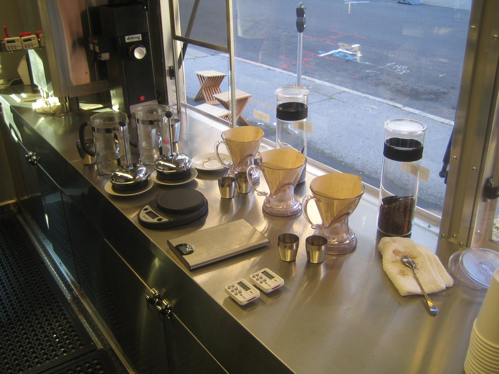 Tools of the trade.  Photo 4 of 8 in Réveille Coffee Company Truck