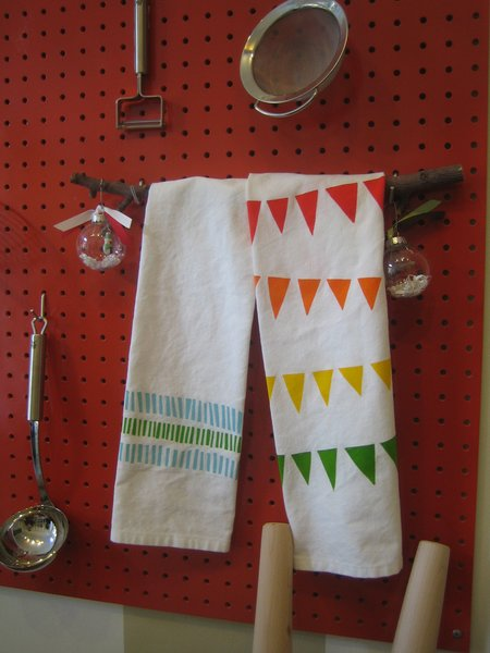 Two more towels from Katherine J. Lee.