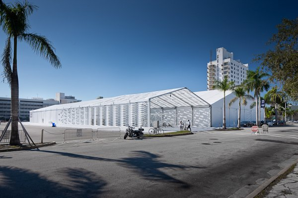 The tent was the first temporary structure commissioned by Design Miami.  Design Miami's Deconstructed Tent  by Diana Budds