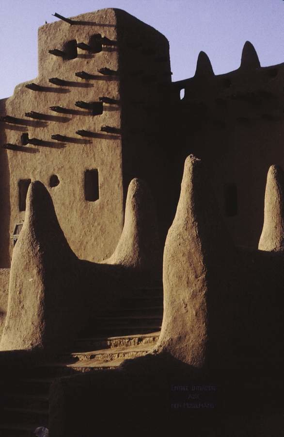 Mosque Detail, Djenne, Mali  Photo courtesy Museum for African Art.  © Enid Schildkrout  Sightlines and African Urbanism by Aaron Britt