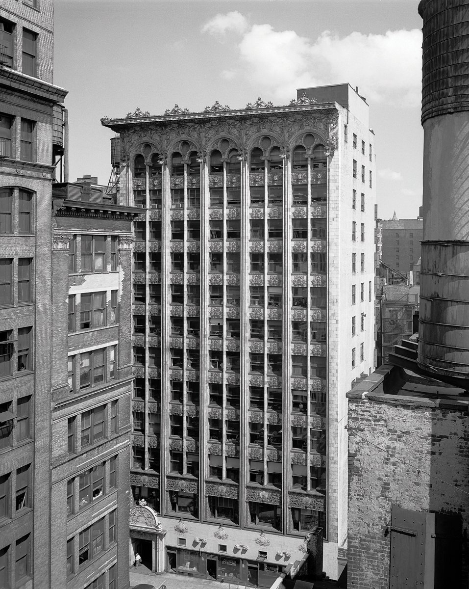 The Bayard-Condict Building, New York, New York, built 1897-1899. Photo courtesy of The Richard Nickel Committee and Archive.  Photo 7 of 19 in The Architecture of Adler & Sullivan